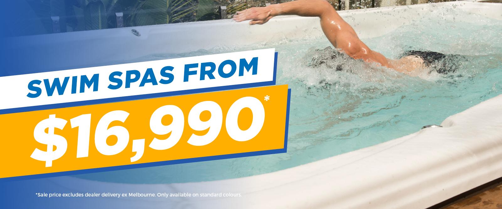Swim Spas From $16,990